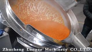 辣椒酱搅拌炒锅辣椒酱制造机