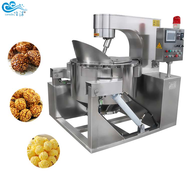 Industrial Full Automatic Caramel Popcorn Production Line