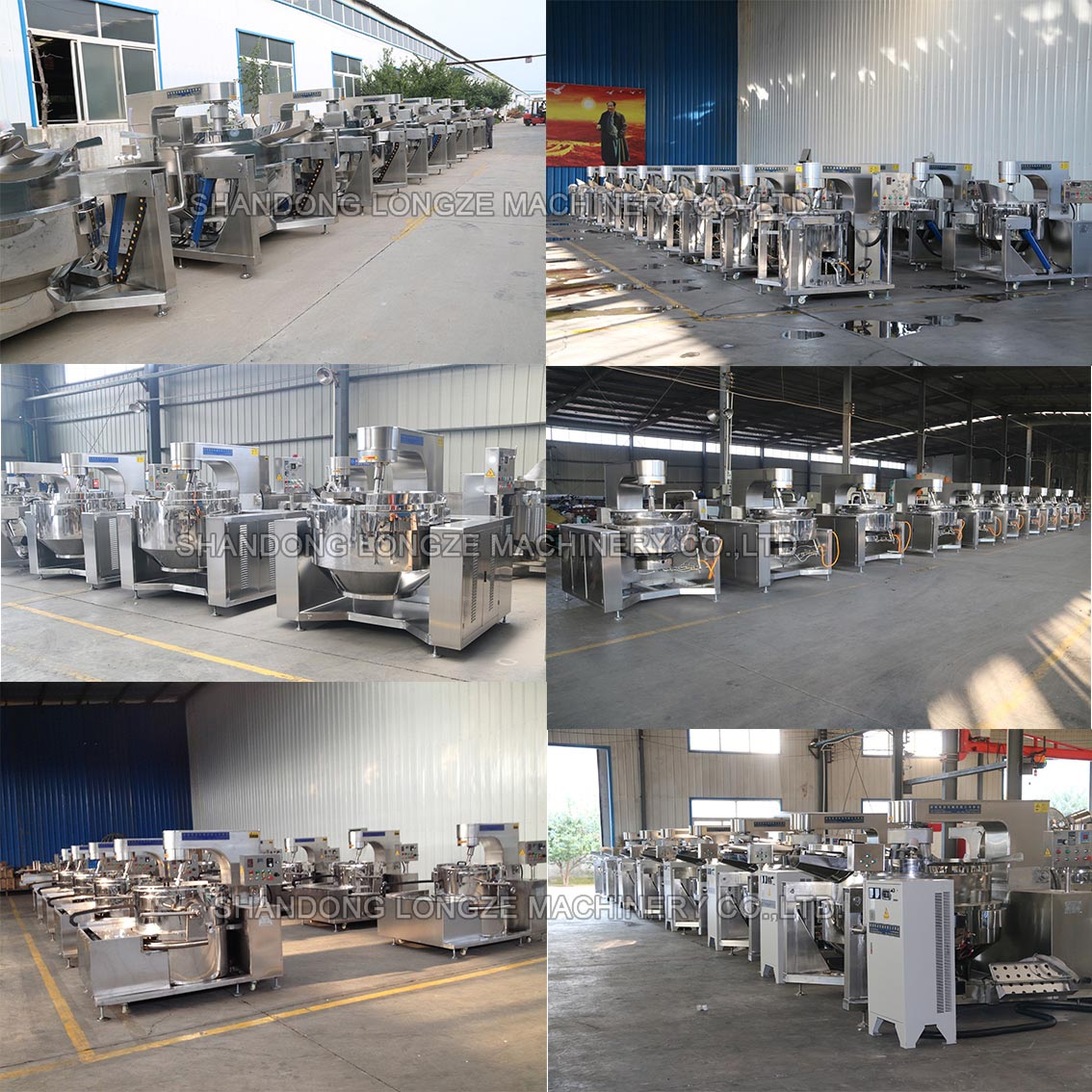 Gas-Fired Chili Sauce Cooking Mixer Manufacture