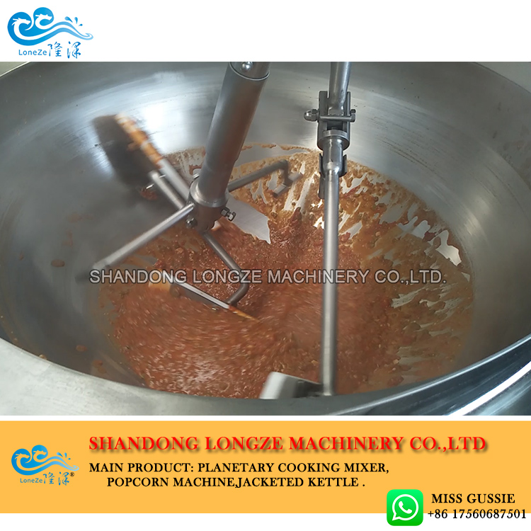 big capacity electric oil chili sauce making machine